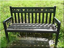 SE1307 : Memorial seat, off Cemetery Road, Cartworth by Humphrey Bolton