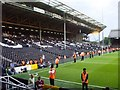 TQ2376 : The Hammersmith End - Fulham FC, SW6 by Phillip Perry