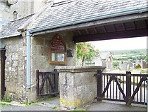 SX7176 : Lych gate, St Pancras Church, Widecombe-in-the-Moor by Maigheach-gheal