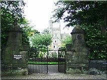 SE0824 : Joseph Crossley  Almshouses,  Arden Road Entrance by Stanley Walker