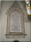 SU7037 : Memorial tablet within St Nicholas, Chawton by Basher Eyre