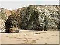 SW8364 : Horse Rock, Watergate Beach by Simon Huguet