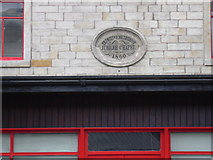 SD9321 : Primitive Methodist Chapel Plaque on disused Shop, Rochdale Road by Robert Wade