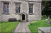 SD4983 : St Peter's Church, Heversham, Cumbria - Doorway by John Salmon