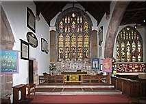 SD4983 : St Peter's Church, Heversham, Cumbria - Sanctuary by John Salmon
