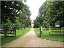 SU7037 : Sweeping drive up to Chawton Manor by Basher Eyre