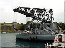 SY6878 : Weymouth - Floating Crane by Chris Talbot