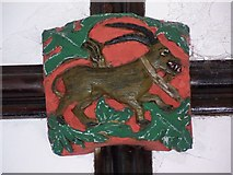 SX7176 : Roof boss, St Pancras Church, Widecombe-in-the-Moor by Maigheach-gheal