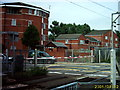 TQ3697 : Brimsdown level crossing viewed from station by Matthew Singh