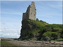 NS3119 : Greenan Castle by G Laird