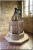 SK7431 : St.Mary's font by Richard Croft