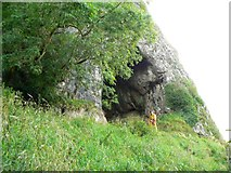SK0954 : Entrance to Thor's Cave by James Allan