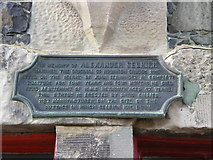NO4202 : Detail of the plaque beneath the statue of Alexander Selkirk by Richard Law