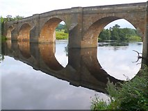 NY9170 : Chollerford Bridge by Nigel Mykura