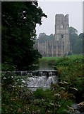 SE2768 : Fountains Abbey from weir on River Skell by Rob Farrow