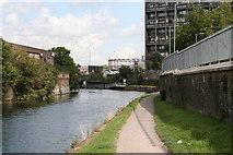 TQ3882 : View along Limehouse Cut by Dr Neil Clifton