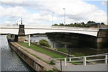 TQ3882 : Twelvetrees Crescent bridge over Old River Lee by Dr Neil Clifton