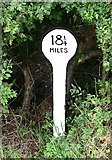 SK7431 : A mile marker along the Grantham Canal by Mat Fascione