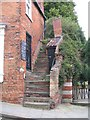 SK9771 : Steep steps by Steep Hill, Lincoln by E Gammie