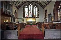 NY2623 : St John's church, Keswick, Cumbria - Chancel by John Salmon
