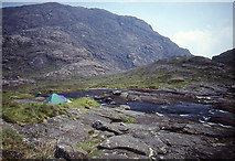 NG4819 : Camp site beside the Scavaig River by Tom Richardson