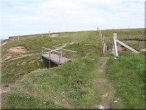 HY5042 : Wooden bridge on coastal path by Nicholas Mutton