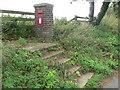 ST9506 : Tarrant Rushton: postbox № DT11 147, Windy Corner by Chris Downer