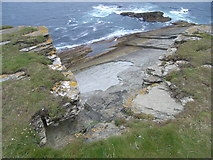 HY2328 : Cliff face at Brough of Birsay by Nick Mutton