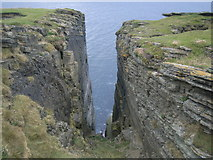 HY2328 : Great feature between the cliffs at Brough of Birsay by Nick Mutton