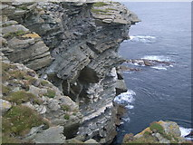 HY2328 : Cliffs at Brough of Birsay by Nick Mutton