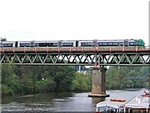 SO8455 : Train crossing the River Severn by P L Chadwick