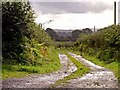 SN1324 : Track to Plas-y-bedw, Llandissilio: wet weather by Dylan Moore
