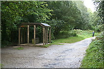 SX0567 : Rain Shelter on the Camel Trail by Tony Atkin