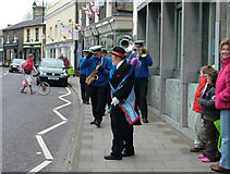 TM3863 : St. George's day celebration, Saxmundham High Street by John Goldsmith