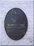 HU4007 : Sumburgh Head lighthouse plaque by Nick Mutton