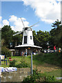 TQ6714 : Fake Windmill at Brownbread Horse Rescue, Brownbread Street, Ashburnham, East Sussex by Oast House Archive