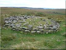 SK2775 : Big Moor - Cairn by Alan Heardman