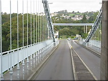 SH5571 : Entering Anglesey across Pont y Borth by Eric Jones