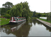 SK1705 : The Birmingham and Fazeley  Canal at Hopwas, Staffordshire by Roger  Kidd