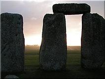 SU1242 : Stonehenge at sunrise, looking east by Rob Purvis