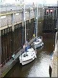 ST1972 : Lock at the Cardiff Bay Barrage by Robin Drayton