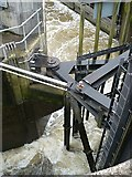 ST1972 : Lock mechanism at the Cardiff Bay Barrage by Robin Drayton