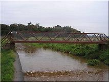 NT6578 : Footbridge over the Biel Water by Iain Lees