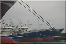 NK0067 : Trawlers in Balaclava Harbour, Fraserburgh by hayley green