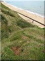TG3235 : Beach below Mundesley Holiday Village by Evelyn Simak
