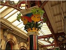 SO7845 : Decorated capital, Great Malvern Station by Derek Harper