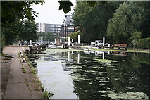 TQ3783 : Lee Navigation:  above Old Ford Locks by Dr Neil Clifton