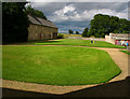 NZ0878 : Belsay Castle courtyard by Chris Gunns