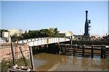 TF3243 : Docks swing bridge by Richard Croft
