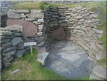 HU3909 : Jarlshof settlement - cell in the broch wall by Nick Mutton
